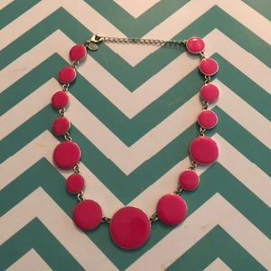 Hot pink and gold statement necklace